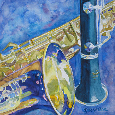 Clarinet Painting - Reeds Between Sets by Jenny Armitage