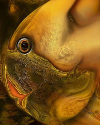 Print featuring the digital art Reef Mistress by Steve Sperry