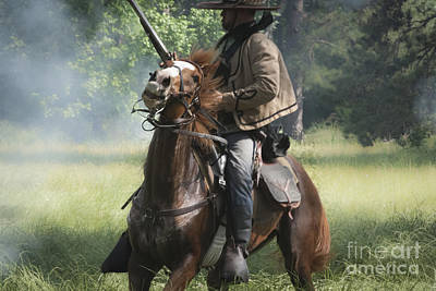 Soldiers Mixed Media - Reenactor And His Horse by Kim Henderson