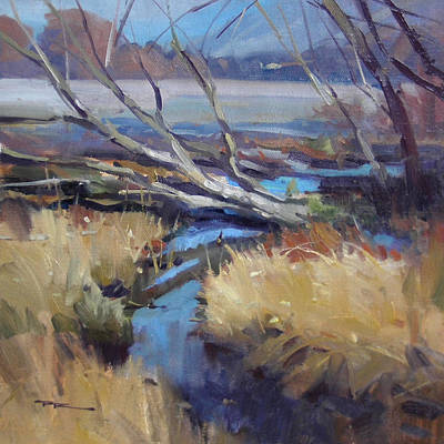 Richard Robinson Painting - Rees Riverbed by Richard Robinson