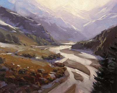 Rees Valley Art Print by Richard Robinson