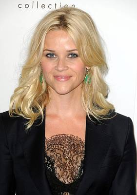 Drop Earrings Photograph - Reese Witherspoon At Arrivals For Elles by Everett