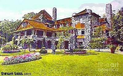 Painting - Refectory Building Restaurant In Niagara Falls N Y In 1910 by Dwight Goss