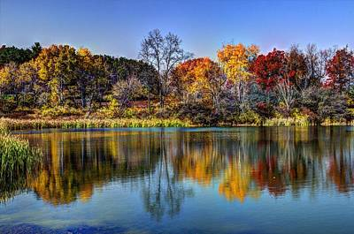 Elmira Ny Photograph - Reflect Upon Autumn At Tanglewood by Laurie Cybulak