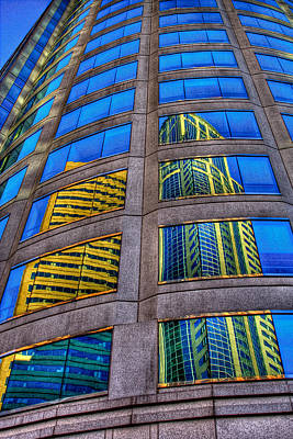 Architecture Photograph - Reflected Skyscrapers by David Patterson
