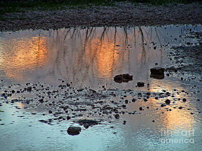 Photograph - Reflected Sunset by Mary Attard