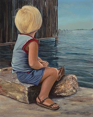 Painting - Reflecting by AnnaJo Vahle