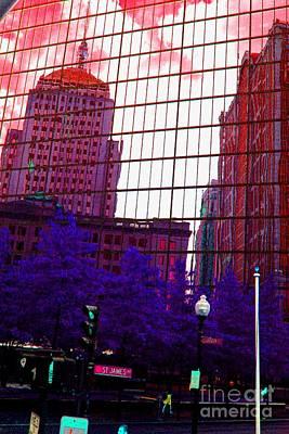 Reflecting On Boston Art Print by Julie Lueders