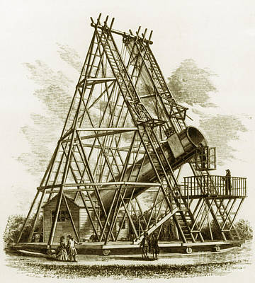 Reflecting Telescope, 1789 Art Print by Science Source