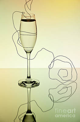 Champagne Photograph - Reflection 01 by Nailia Schwarz