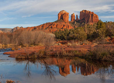 Photograph - Reflection At Cathedral Rock by Peter Skiba