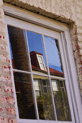 Photograph - Reflection In Window by Bill Barber
