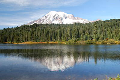 Reflection Lake - Mt. Rainier Art Print