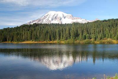 Reflection Lake - Mt. Rainier Art Print