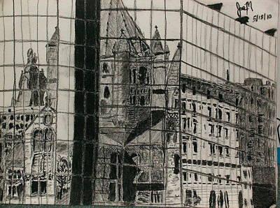 Reflection Of A Church Art Print by Jamie Mah