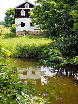 Photograph - Reflection Of The Barn by Robert Margetts