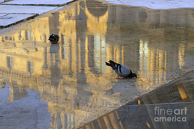 Richelieu Photograph - Reflection Of The Louvre In Paris by Louise Heusinkveld