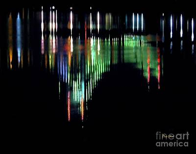 Digital Art - Reflection Of Throggs Neck Bridge by Dale   Ford
