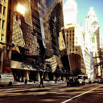 Manhattan Photograph - Reflections - New York City by Vivienne Gucwa