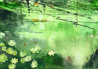 Reflections 1 Art Print by Anil Nene