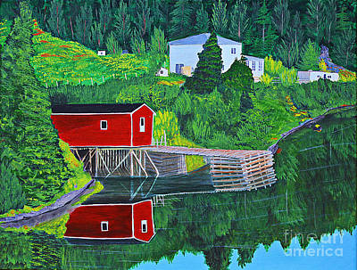 Reflections H D R Art Print by Barbara Griffin
