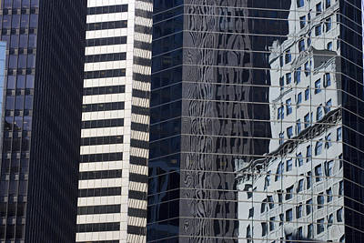 Reflections In Building Windows Art Print