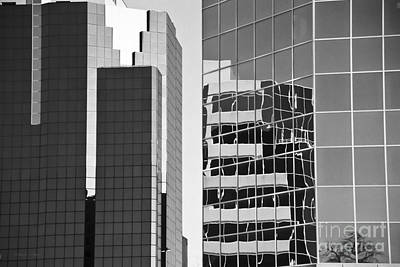 Black Commerce Photograph - Reflections In Glass And Steel by Gordon Wood