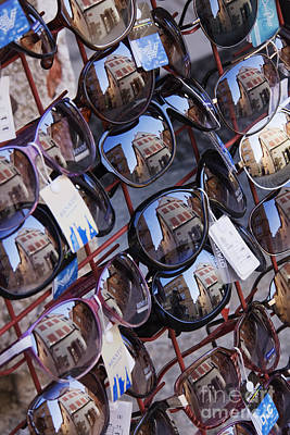 Reflections In Sunglasses Art Print by Jeremy Woodhouse