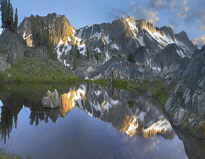 Mountain Reflection Photograph - Reflections In Wasco Lake Twenty Lakes by Tim Fitzharris