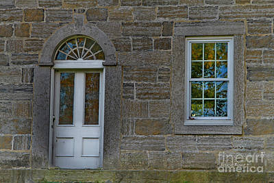 Stone Buildings Photograph - Reflections In Windows by Deborah Benoit