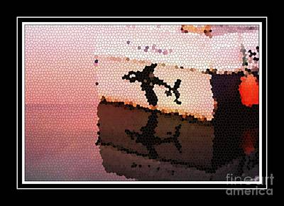 Orca Digital Art - Reflections Of An Orca In Stained Glass by Barbara Griffin