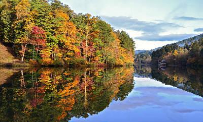 Reflections Of Autumn Art Print by Susan Leggett