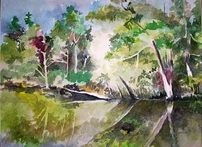 Painting - Reflections Of Blackwater River Fl. by Richard Willows
