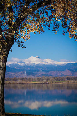 Reflections Of Longs Peak Vertical Image Art Print by James BO  Insogna