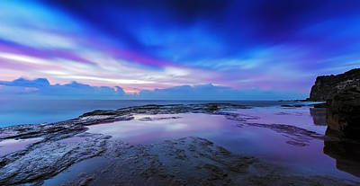 Reflections Of Pink And Blue Print by Mark Lucey
