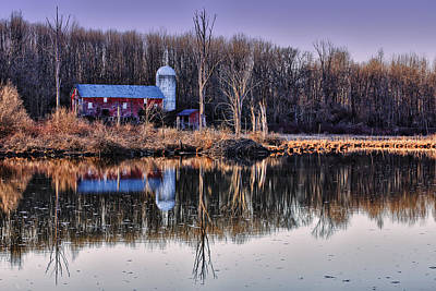 Reflections Of The Old Barn Art Print by Rick Berk