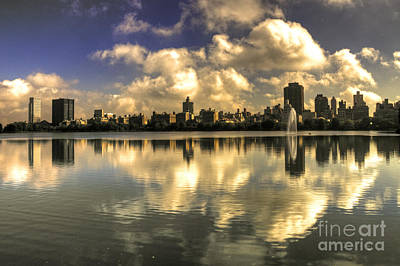 Reflections Over East Side  Art Print