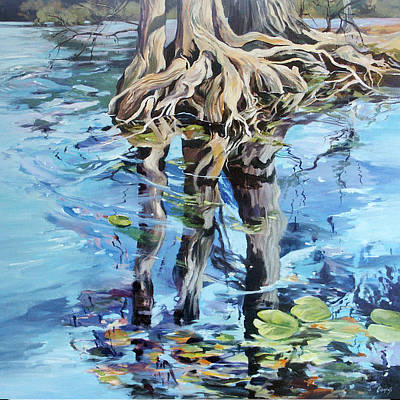 Art Print featuring the painting Reflections by Rae Andrews
