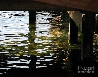 Digital Art - Reflections Under Pier by Dale   Ford