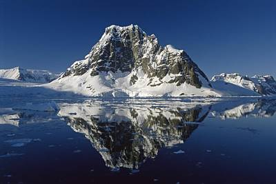 Reflecting Water Photograph - Reflections With Ice by Antarctica