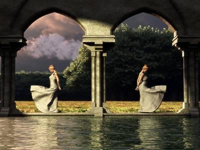 Surrealism Digital Art - Reflectivity by Daniel Eskridge