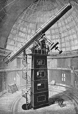 Lick Observatory Photograph - Refracting Telescope, 1888 by Granger