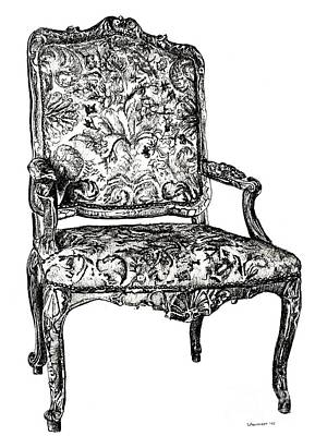 Lee-ann Drawing - Regency Chair by Adendorff Design