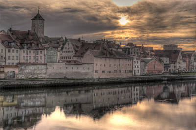 Photograph - Regensburg Cityscape by Anthony Citro