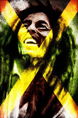 Reggae King Art Print by Andrea Barbieri
