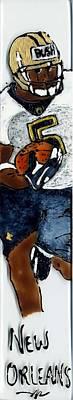 Reggie Painting - Reggie Bush New Orleans Saints by Phil Strang