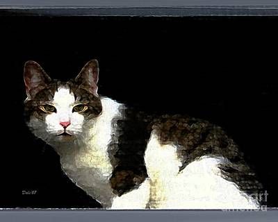 Reggie In Window Art Print by Dale   Ford