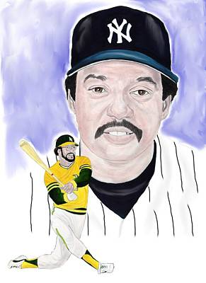 Oakland Athletics Painting - Reggie Jackson by Steve Ramer