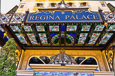 Regina Palace Hotel Stresa Italy Art Print by Jon Berghoff