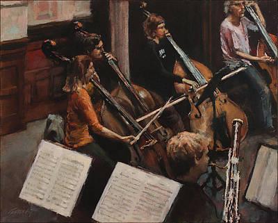 Bassoon Painting - Rehearsing Rachmaninoff IIi by Gavin Calf